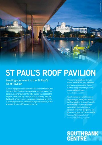 St Paul's Roof Pavilion