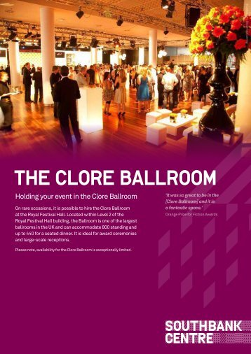 THE CLORE BALLROOM