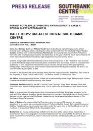 BALLETBOYZ GREATEST HITS AT SOUTHBANK CENTRE