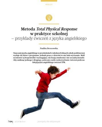 Metoda total physical response - Języki Obce w Szkole