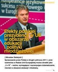 Efekty polskiej prezydencji w UE w obszarze edukacji i polityki młodzieżowej