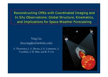 Reconstructing ICMEs using coordinated imaging and in situ ...