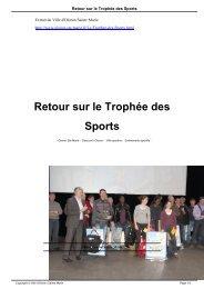 Retour sur le Trophée des Sports
