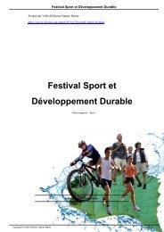 Festival Sport et Développement Durable