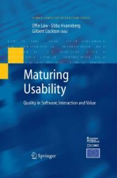 Maturing Usability - Quality in Software, Interaction and Value