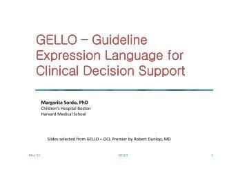 GELLO - the Mayo Clinic Informatics Website