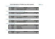 Lista de Operadoras e Produtos que serão suspensos