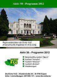 Aktiv 50 - Programm 2012 - Die Eiche VoG
