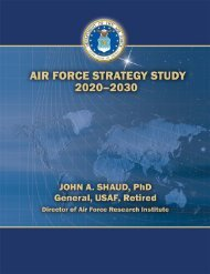 Air Force Strategy Study 2020–2030