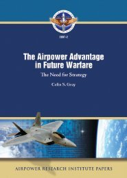The Airpower Advantage in Future Warfare
