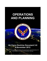 OPERATIONS AND PLANNING