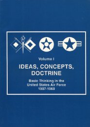 IDEAS CONCEPTS DOCTRINE  Air 1907-1960