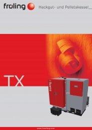 Prospekt Hackschnitzelkessel TX - Allotherm