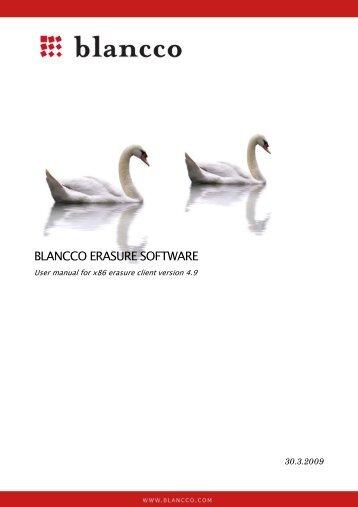 Blancco Erasure Software Manual
