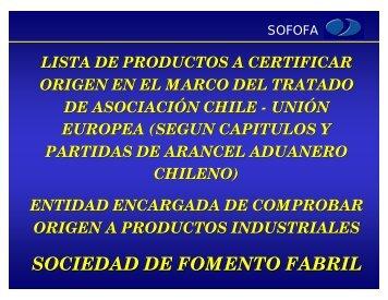 SOCIEDAD DE FOMENTO FABRIL