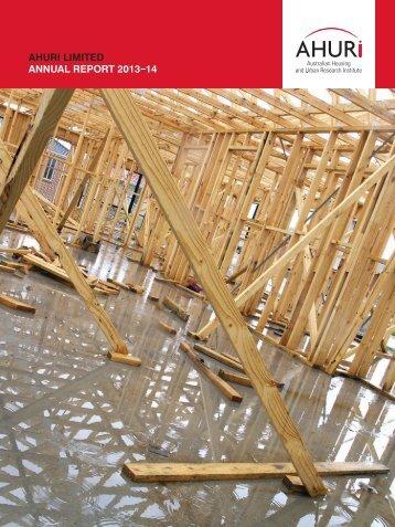 AHURI Annual Report 2013-14