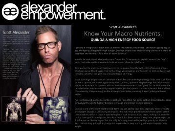 Know Your Macro Nutrients