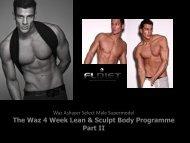 The Waz 4 Week Lean & Sculpt Body Programme Part II