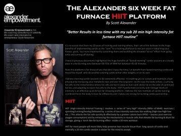 The Alexander six week fat furnace HIIT platform