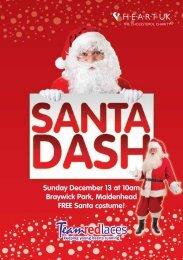 Sunday December 13 at 10am Braywick Park Maidenhead FREE Santa costume!