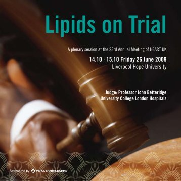 Lipids on Trial