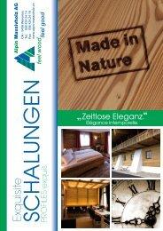 feel wood feel good - Alpin Massivholz AG