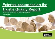 External assurance on the Trust's Quality Report