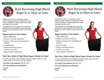 Start Reversing High Blood Sugar in 21 Days or Less! Start ...