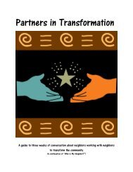 Partners in Transformation