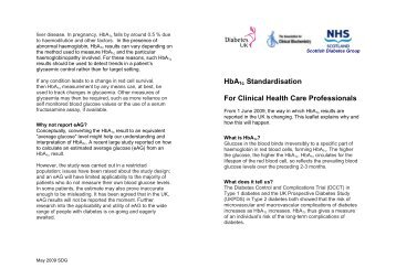 HbA Standardisation For Clinical Health Care Professionals