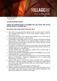 PDF Press release - Village Main Reef