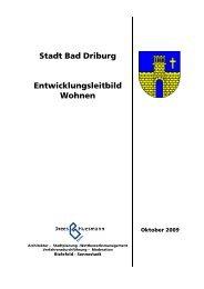Stadt Bad Driburg Entwicklungsleitbild Wohnen