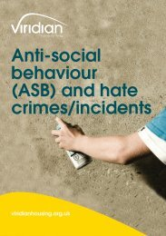Anti-social behaviour (ASB) and hate crimes/incidents