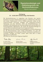Link zum Tagungsprogramm - Home - Institut für Tierökologie und ...
