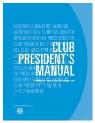 CLUB PRESIDENT'S MANUAL
