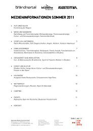Presseinformation Sommer 2011 (pdf) - Urlaub in der Alpenregion ...