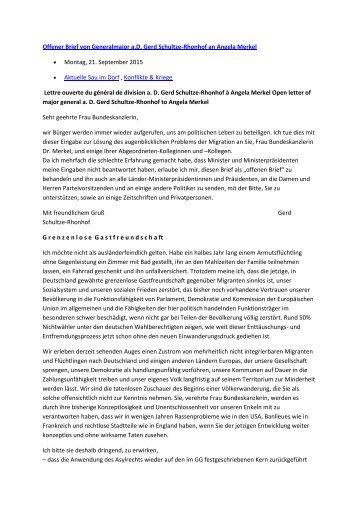 Offener Brief von Generalmajor a