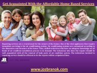 Get Acquainted With the Affordable Home Based Services