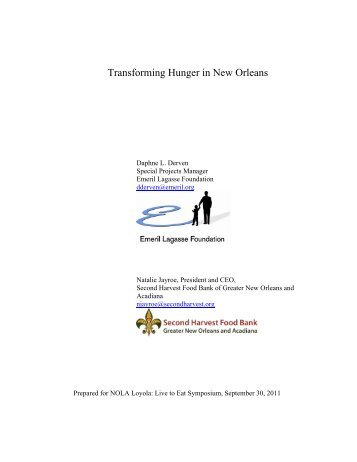 Transforming Hunger in New Orleans