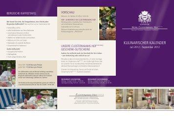 kUlinARiSCHeR kAlendeR - Hotel Clostermanns Hof
