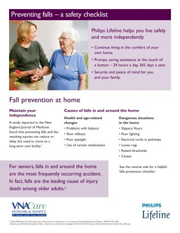 Preventing falls – a safety checklist Fall prevention at home
