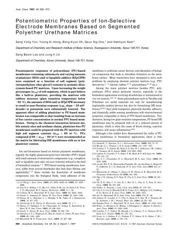 Potentiometric Properties of Ion-Selective Electrode Membranes ...