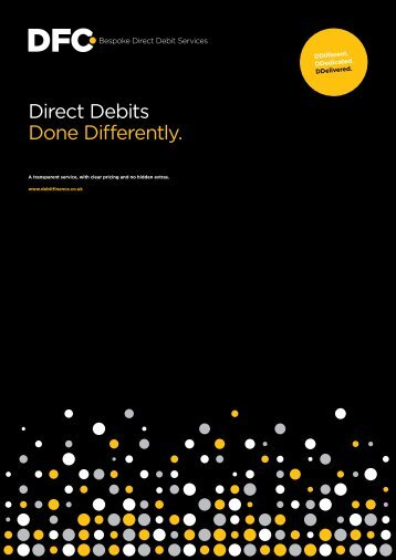 Direct Debits Done Differently