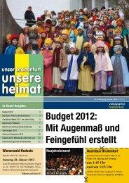 Budget 2012 - VP Breitenfurt