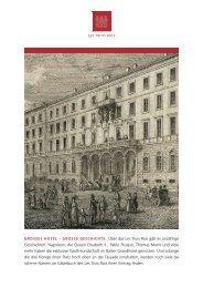 Meilensteine der Geschichte - Grand Hotel Les Trois Rois