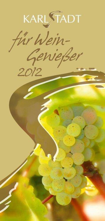 Karlstadt für Wein-Genießer 2012 - Stadt Karlstadt