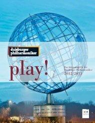 play! Das Jahresmagazin der Duisburger Philharmoniker 2012/2013