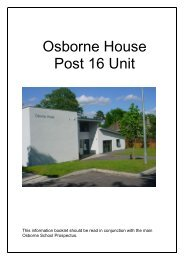 Osborne House Post 16 Unit