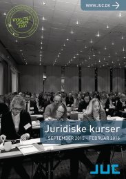 JUC kurser for advokater og jurister 6-2015
