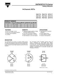 2N/PN/SST4117A Series N-Channel JFETs